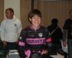 Alegría de Cynthia con el trofeo de vencedora senior de la Liga. Foto: Peio Gorostegi. Kiroltraining.com
