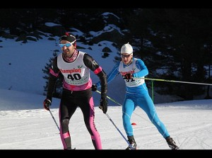 Dani en carrera. Foto: Ski Club d´Azun