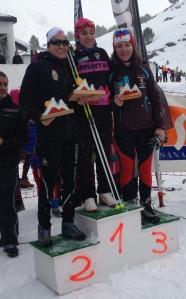Cynthia subió a lo más alto del podium en categoría Senior II