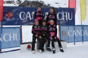Equipo de Irrintzi Ski presente en Candanchú (Falta Jesus)